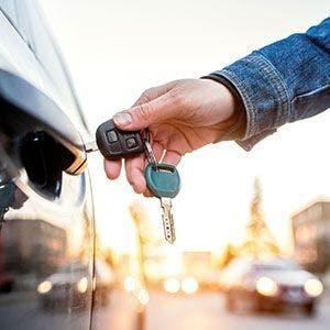 Keys in a car
