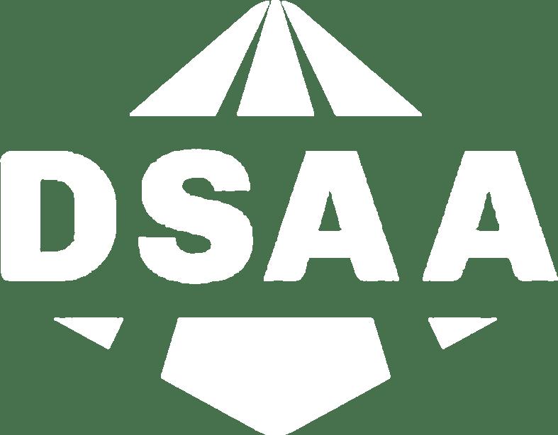 White DSAA logo icon