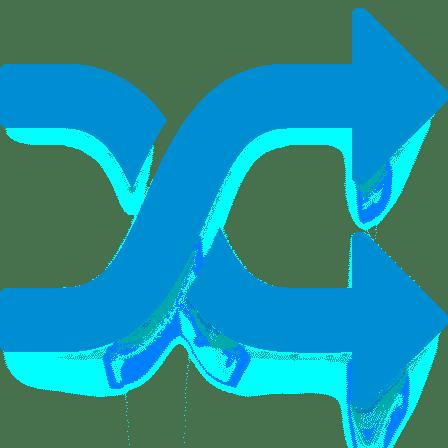 Blue random icon